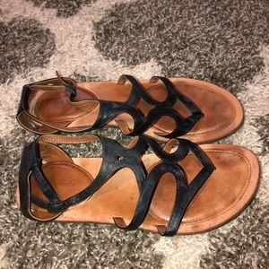 Gentle Souls Leather Ankle Sandals